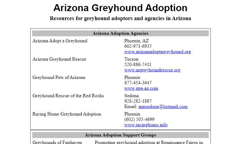 azgreyhounds.org