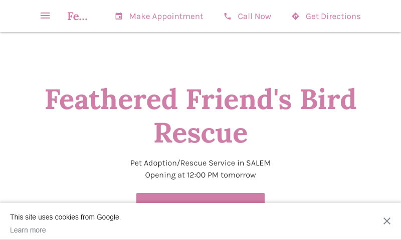 featheredfriendsbirdrescue.com