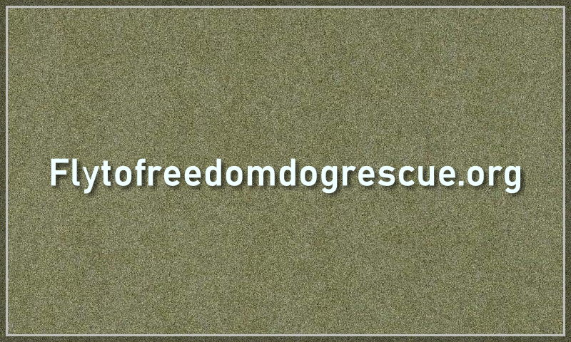 flytofreedomdogrescue.org